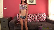 Super skinny Asian casting couch audition - 9Club.Top