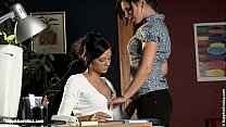 Two office ladies Sultry Assistants having lesbian fun on Sapphic Erotica