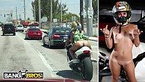 BANGBROS - Big Booty Latin Babe Sophia Steele Rides A Motorcycle & A Cock thumbnail