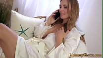 Les babe pleasures her new stepmommy