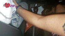 Cristina Almeida, grávida, brincando com taxista dotado na frente do corno do marido que filma toda brincadeira - Dogging 5   Parte 1/2 صورة