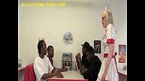 Blonde Service Four Black Guys