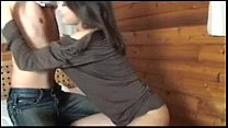 Risa gets creampie while sitting sex thumbnail