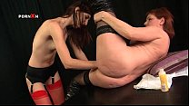 Mature lesbian slut gets snatch fisted hard fro...