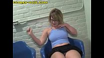 Blonde Whore For Black Cock At A GloryHole
