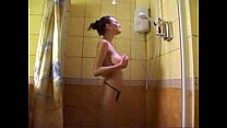 Russian girl is taking shower Thumbnail