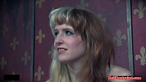 Bound bdsm chick weighed down and toyed video