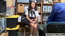 Cop fucks asian schoolgirl for shoplifting thumbnail
