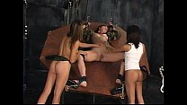 Female POW BDSM role player tortured using electric toys by two lesbians-Get more girls like this on