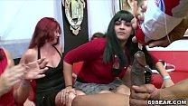 Horny women suck male stripper cock Vorschaubild