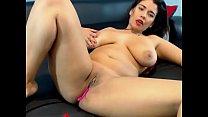 Horny Latin slut making her pussy cum