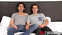 Euro twinks go 69 and sucked each others uncut dicks