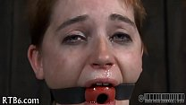 Facial torment for pretty babe