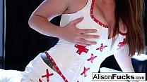 Sexy Nurse Alison Tyler spreads her pretty puss...'s Thumb