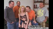 Tampa Slut Wife's Ass Banging Bukkake Party