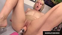 Horny British Grandma Jamie Foster Gets Fucked by a Machine's Thumb