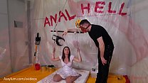 Anal Hell -- brutal anal domination with extreme bondage, ATM, and piss drinking