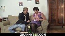 Old grandma rides big dick video