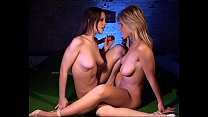 Two perfect sluts with huge boobs loves to trib! video
