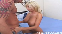 I want to see my wife cum riding a big pornstar cock Image