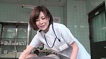 Subtitled CFNM Japanese female doctor gives patient handjob صورة