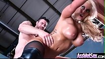 (Bridgette B) Horny Girl With Big Oiled Ass Get... Thumbnail