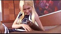 Blond skinny teen gets his big black cock thumbnail