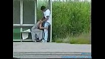 Blowjob at the bus stop