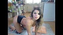 teen sexydea flashing ass on live webcam
