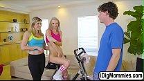 Slut Stepmum Cory Chase loves threesome video