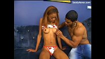 Skinny black teen fucked by BBC