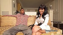 Sexy eyes tranny fucks black cock