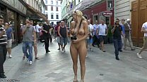 Crazy blonde chick susanne naked on public streets pornhub video