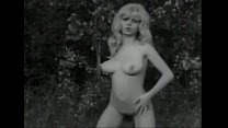 Vintage B&W Swedish blond with big boobs and ha...