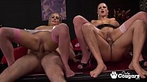 Three Horny Britsh Cougars With Huge Boobies Has An Orgy To Get Pregnant thumbnail