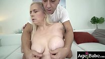 Horny blonde mature Violett craves a hard, young cock
