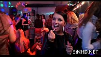 Wild and raucous pole party video