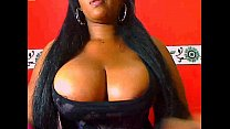Ebony show Biig tits and big pussy in Webcam صورة