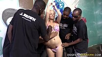 Jenna Ivory Serves A Gang Of Black Men With Her...