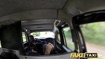 Fake Taxi Horny couple get it on in rear of cab Image