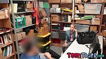 Hot blonde enjoys being fucked after getting caught shoplifting - 9Club.Top