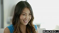 BLACKED Tight Asian Babe Jade Luv Screams on Ma...