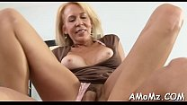 Nasty mamma rides to get orgasm