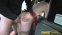 Fake Taxi Lady in stockings gets creampied thumbnail