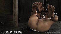 Tough hotty in shackles gets her love tunnel pumped video