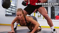 BANGBROS - Big Tits Babe Nicole Aniston Gets Her Pussy Worked Out In The Gym Thumbnail