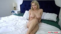 MILF stepmother fingering herself in front of stepson