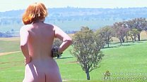 Wife Showing Her Naked Body In The Fields