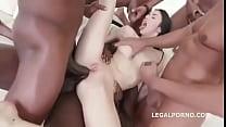 Petite White Whore Interracial Gangbang