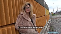 Public Agent Spanish shaven pussy fucked outdoors in public thumbnail
